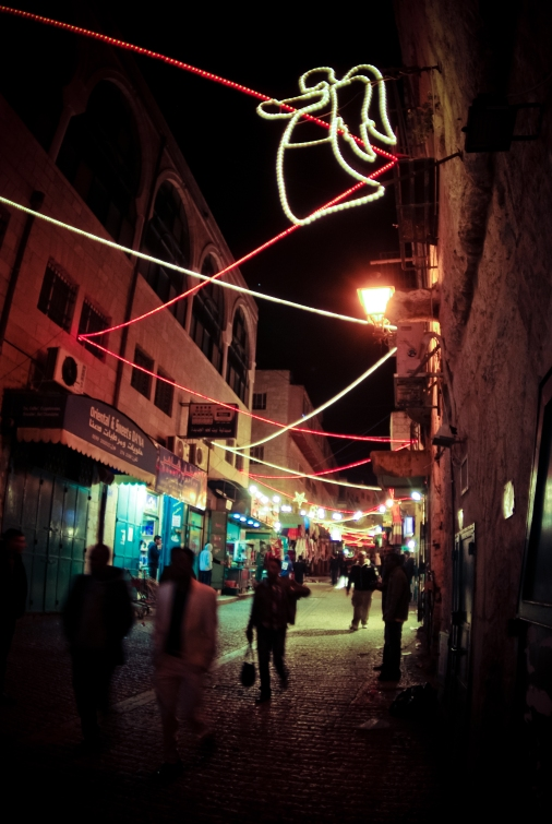 Weihnachtsdekoration in Bethlehem